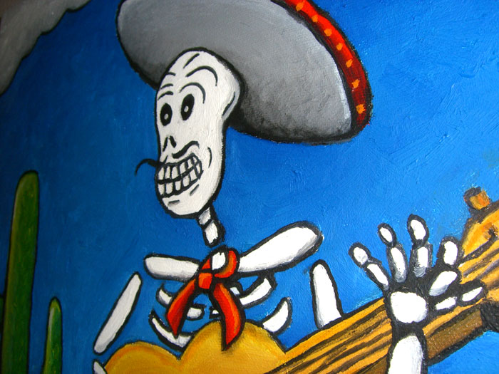 Painting Calavera Close up paint