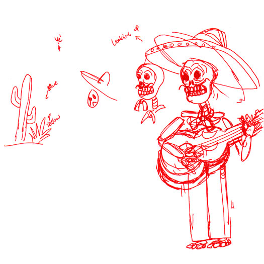 Painting Calavera Sketch