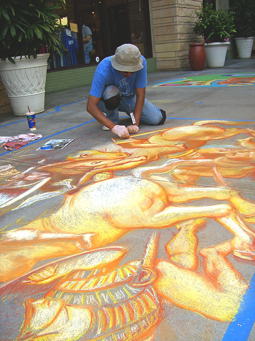 Pasadena Chalkfest Day one