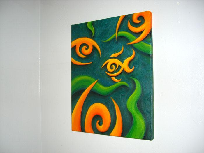 Painting fisheye one two layers