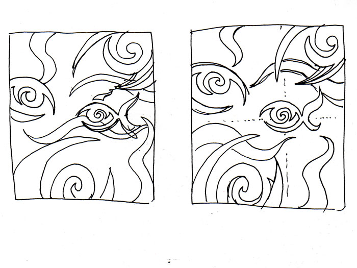 Sketches Of Eyes. Painting Fisheye one sketch