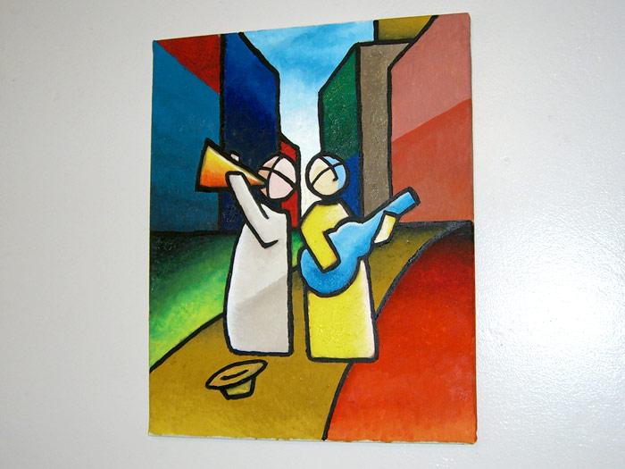 Finished painting Musicos