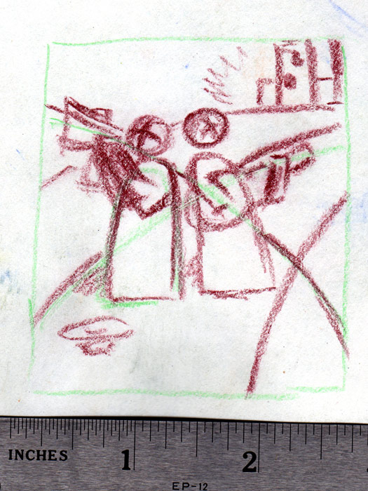 Los Musicos Original Sketch Banning Art Hop