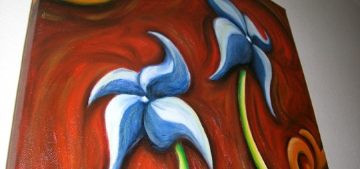 Flower Painting glossy