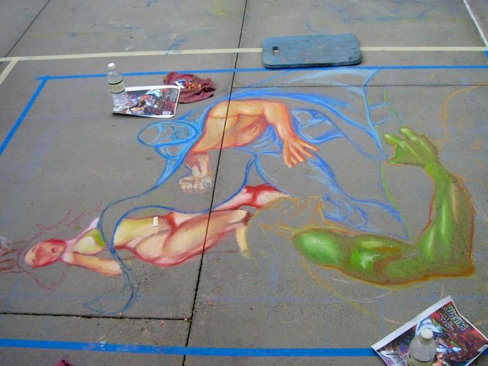 03 Pasadena chalk el Santo coloring