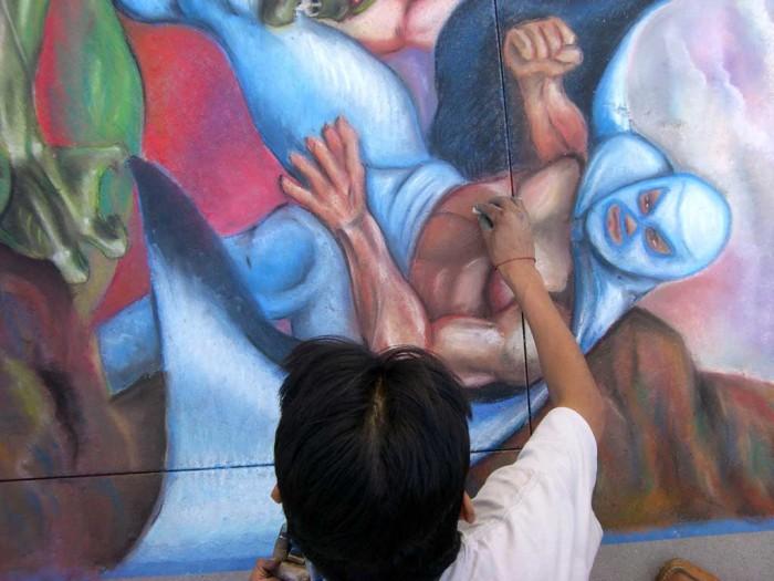13 Pasadena Chalk El Santo