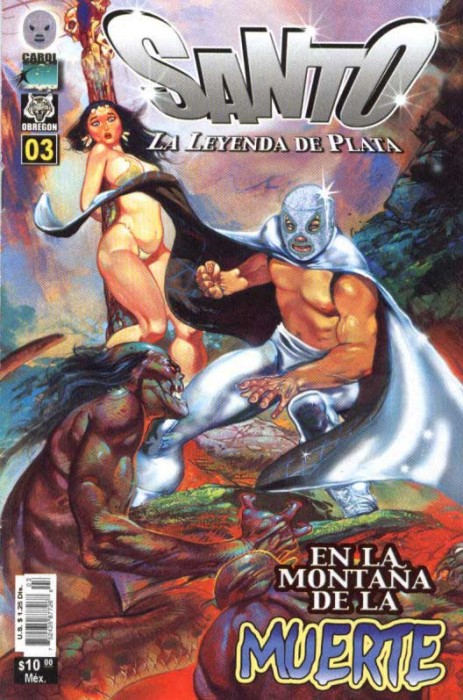 Comic book cover El Santo - Mexican comic book