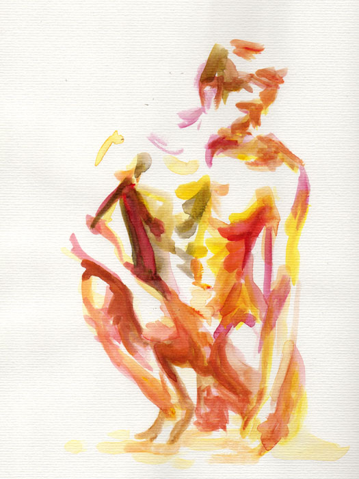 Water Color figure drawing male