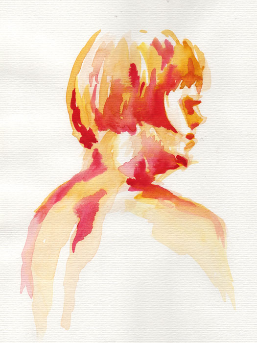 Watercolor portrait by Henry Colchado