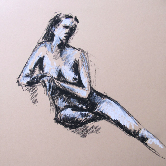 Henry Colchado figure drawing woman sitting