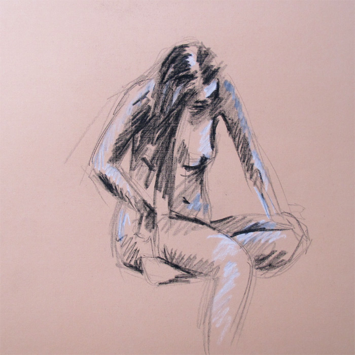 Henry Colchado - figure drawing - woman in chair