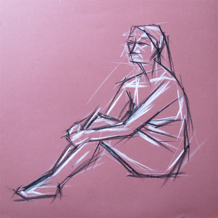 Henry Colchado - woman sitting sketch