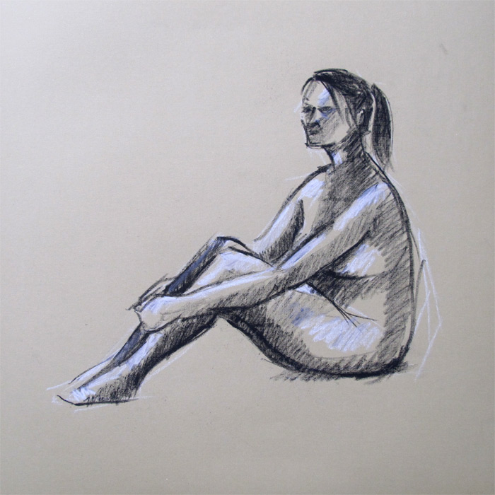 Henry Colchado - figure drawing- woman sitting
