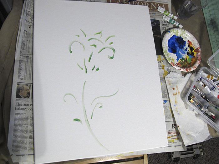 Henry Colchado - Flower Sketch