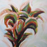 Colorful Flower painting - close up