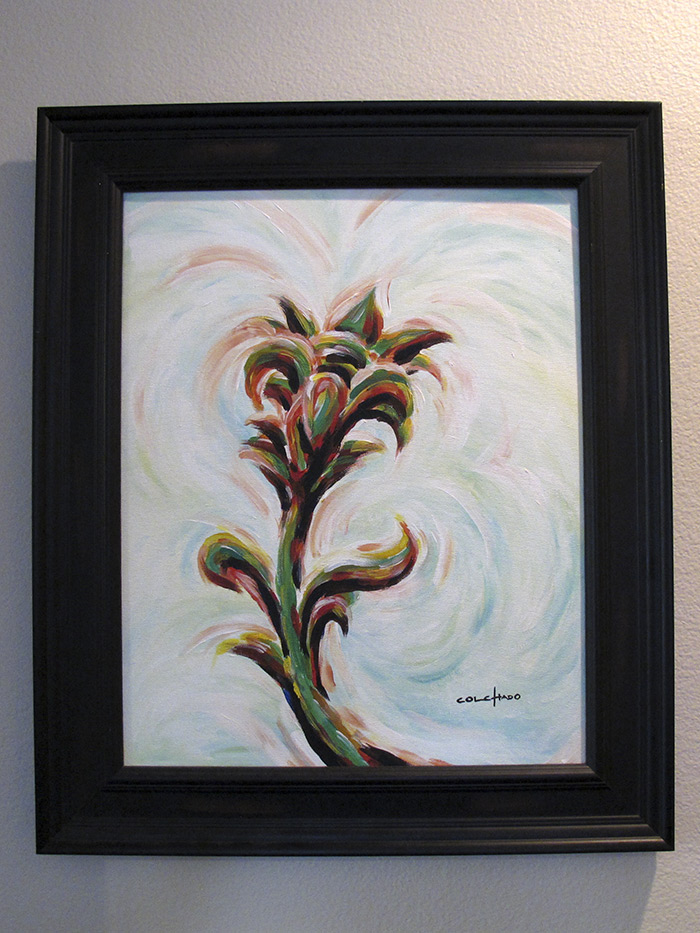 Framed Painting - colorful flower