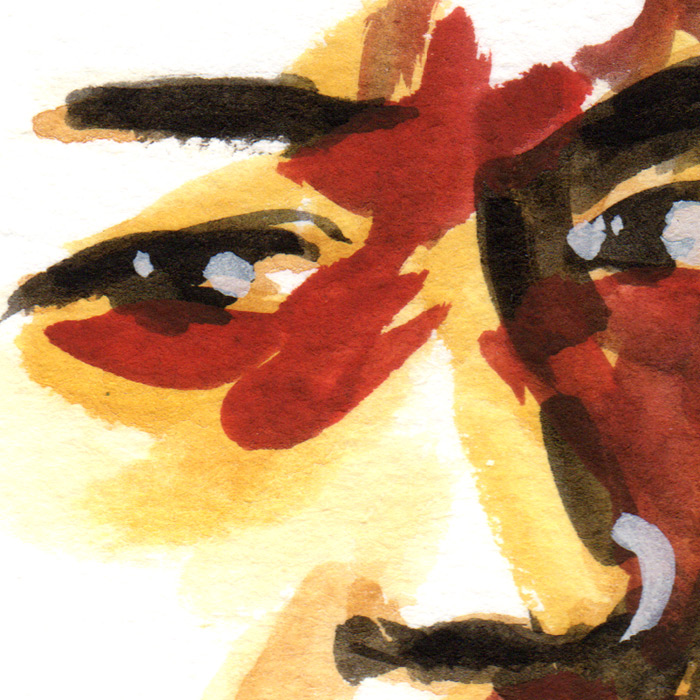 watercolor closeup eyes by Henry Colchado